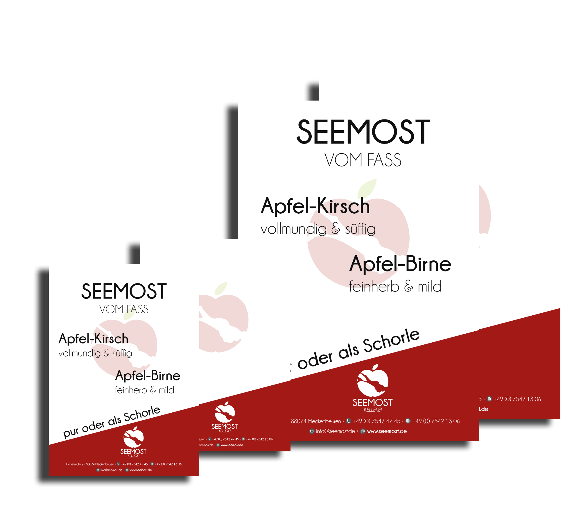 Seemost-Kellerei-Apfel-Gastronomie-Plakate