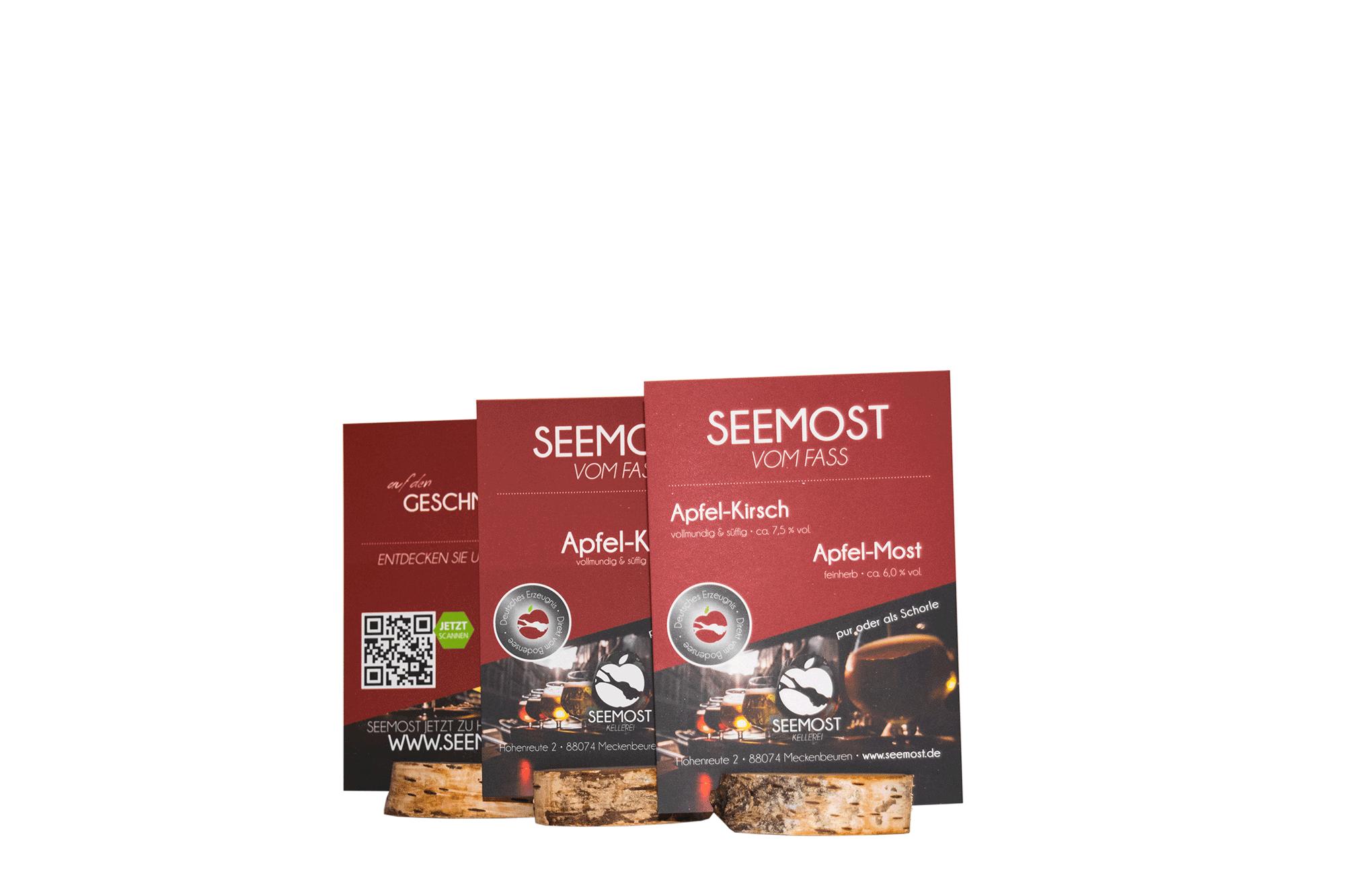 Seemost-Kellerei-Apfel-Gastronomie-Tischaufsteller