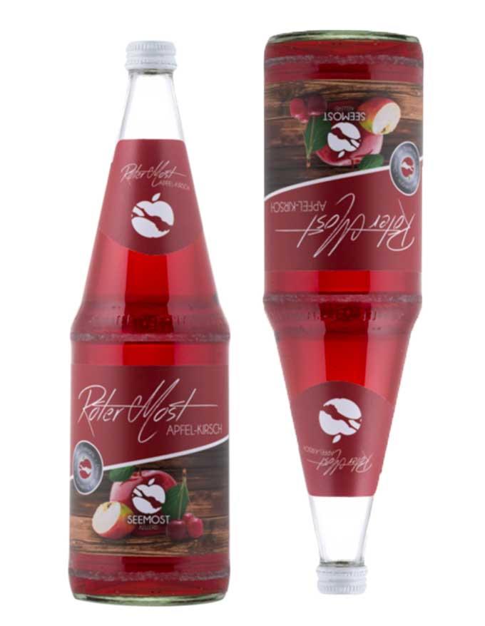 Seemost-Kellerei-Weishaupt-Roter-Most-Apfel-Kirsche-Flasche
