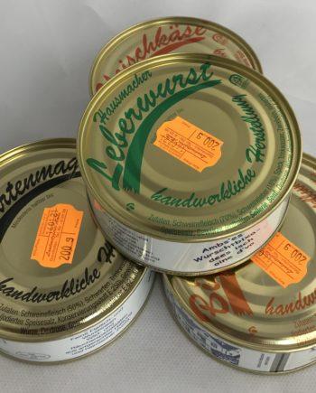 Bratwurst Leberwurst Dosen Seemost Kellerei Weishaupt